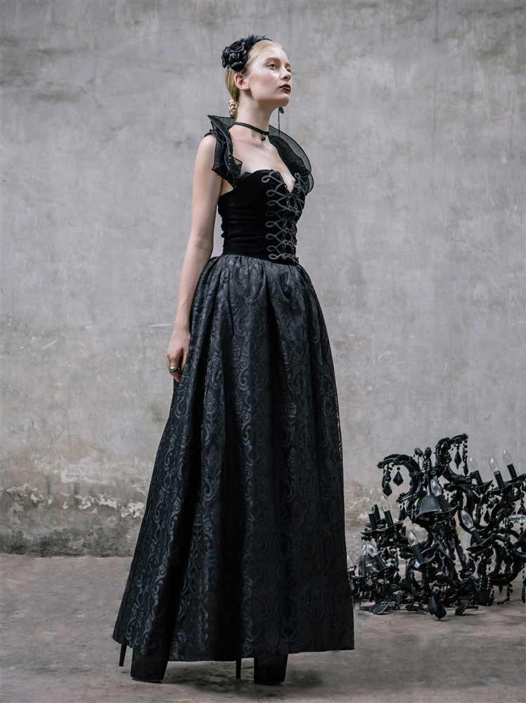 Devil Fashion Gothic Hecate Dress Gothic Housewives Clothing
